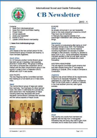 CB Newsletter1 2013